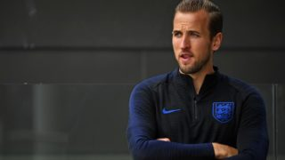 England's striker Harry Kane takes part in an open training session at St George's Park in Burton-on-Trent, central England on September 4, 2018, ahead of their international friendly football match against Spain on September 8. / AFP PHOTO / Paul ELLIS / NOT FOR MARKETING OR ADVERTISING USE / RESTRICTED TO EDITORIAL USE