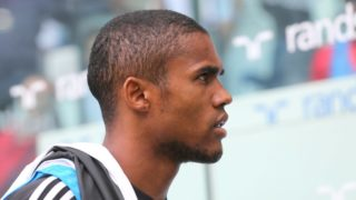 Douglas Costa (Juventus FC)  before the Serie A football match between Juventus FC and US Sassuolo at Allianz Stadium on September 16, 2018 in Turin, Italy.  Juventus won 2-1 over Sassuolo. (Photo by Massimiliano Ferraro/NurPhoto)