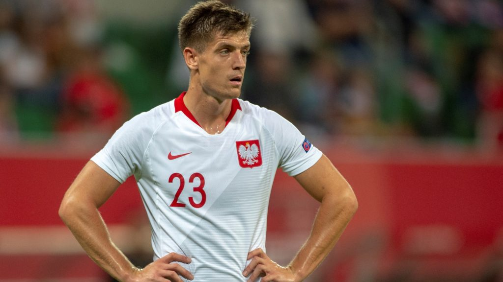 Krzysztof Piatek of Poland looks on during the International Friendly match between Poland and Republic of Ireland at Wroclaw Stadium in Wroclaw, Poland on September 11, 2018 (Photo by Andrew Surma/NurPhoto)
