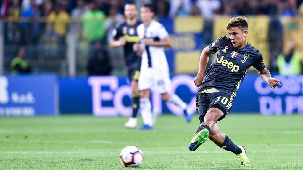 Paulo Dybala of Juventus during Serie A match between  Parma v Juventus in Parma, Italy, on September 1, 2018.  (Photo by Giuseppe Maffia/NurPhoto via Getty Images)