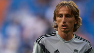 MADRID, SPAIN - SEPTEMBER 01:  Luka Modric of Real Madrid warms up prior to the La Liga match between Real Madrid CF and CD Leganes at Estadio Santiago Bernabeu on September 1, 2018 in Madrid, Spain.  (Photo by Quality Sport Images/Getty Images)