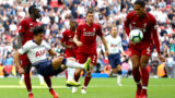 LONDON, ENGLAND - SEPTEMBER 15:  Sadio Mane of Liverpool and Heung-Min Son of Tottenham Hotspur clash as Virgil van Dijk of Liverpool attempts to block the ball during the Premier League match between Tottenham Hotspur and Liverpool FC at Wembley Stadium on September 15, 2018 in London, United Kingdom.  (Photo by Clive Rose/Getty Images)