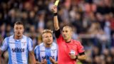 (L-R) Sergej Milinkovic Savic of SS Lazio, Ciro Immobile of SS Lazio, referee Liran Liany during the UEFA Europa League group K match between Vitesse Arnhem and Lazio Roma at Gelredome on September 14, 2017 in Arnhem, The Netherlands(Photo by VI Images via Getty Images)