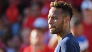 (FILES) In this file photo taken on September 1, 2018 Paris Saint-Germain's Brazilian forward Neymar looks on during the French L1 football match between Nimes and Paris Saint-Germain (PSG), at the Costieres stadium in Nimes, southern France. Superstar attacker Neymar leads a powerful Brazil side into a pair of North American friendlies starting September 7, 2018 against a young United States lineup eager to test itself against world powers. The 26-year-old maestro for Paris Saint-Germain is among 13 players on the Brazilian roster from this year's World Cup side. Others include fellow forwards Philippe Coutinho of Barcelona and Roberto Firmino of Liverpool, Real Madrid's Casemiro and Chelsea's Willian in midfield, Liverpool goalkeeper Alisson and defenders Thiago Silva of Paris Saint-Germain and Filipe Luis of Atletico Madrid.  / AFP PHOTO / Pascal GUYOT