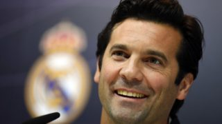 Temporary coach of Real Madrid CF, Argentinian former player Santiago Solari, holds a press conference at the Ciudad Real Madrid training facilities in Madrid's suburb of Valdebebas, on October 30, 2018. - Santiago Solari has been put in temporary charge of Real Madrid after Julen Lopetegui was sacked on October 29, 2018. Solari was the coach of Madrid's B team, Castilla, and is now expected to take Madrid for their Copa del Rey game against Melilla tomorrow. (Photo by GABRIEL BOUYS / AFP)
