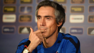 20121121 - BUDAPEST, HUNGARY: Videoton's Head coach Paulo Sousa pictured during a press conference of Belgian first division soccer team KRC Racing Genk in Budapest, Hungary, Wednesday 21 November 2012. Tomorrow, Genk plays the fifth game of their Europa League group stage (group G) against Hungarian club Videoton.  BELGA PHOTO YORICK JANSENS