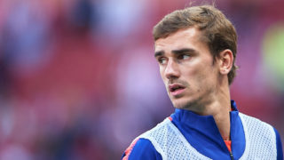 MADRID, SPAIN - OCTOBER 07:  Antoine Griezmann of Club Atletico de Madrid warms up prior to the La Liga match between Club Atletico de Madrid and Real Betis Balompie at Wanda Metropolitano on October 7, 2018 in Madrid, Spain.  (Photo by Quality Sport Images/Getty Images)