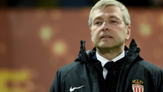 AS Monaco President Dmitry Rybolovlev looks on during the French League Cup final football match between Monaco (ASM) and Paris Saint-Germain (PSG) at The Matmut Atlantique Stadium in Bordeaux, southwestern France on March 31, 2018. (Photo by NICOLAS TUCAT / AFP)