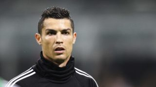 Juventus forward Cristiano Ronaldo (7) warms up before the Serie A football match n.12 MILAN - JUVENTUS on 11/11/2018 at the Stadio Giuseppe Meazza in Milan, Italy. (Photo by Matteo Bottanelli/NurPhoto)