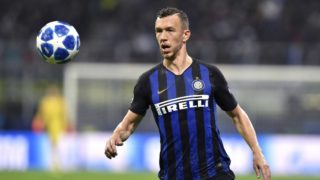 Ivan Perisic of Inter Milan during the UEFA Champions League Group Stage match between Inter Milan and Barcelona at Stadio San Siro, Milan, Italy on 6 November 2018. (Photo by Giuseppe Maffia/NurPhoto)