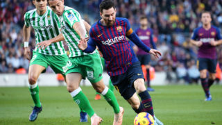 Leo Messi during the match between FC Barcelona and Real Betis Balompie, corresponding to the week 12 of the spanish league, played at the Camp Nou Stadium on 11th October 2018 in Barcelona, Spain.   -- (Photo by Urbanandsport/NurPhoto)