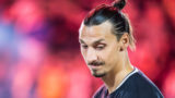 CARSON, CA - SEPTEMBER 29: Zlatan Ibrahimovic #9 of Los Angeles Galaxy  during the Los Angeles Galaxy's MLS match against Vancouver Whitecaps at the StubHub Center on September 29, 2018 in Carson, California.  The Los Angeles Galaxy won the match 3-0 (Photo by Shaun Clark/Getty Images)