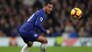 LONDON, ENGLAND - NOVEMBER 04: Eden Hazard of Chelsea in action during the Premier League match between Chelsea FC and Crystal Palace at Stamford Bridge on November 04, 2018 in London, United Kingdom. (Photo by Richard Heathcote/Getty Images)