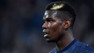 TURIN,ITALY - NOVEMBER 7: Paul Pogba of Manchester United looks on after the Group H match of the UEFA Champions League between Juventus and Manchester United at Juventus Stadium on November 07, 2018 in Turin, Italy. (Photo by Etsuo Hara/Getty Images)