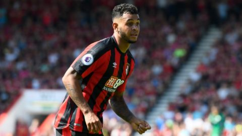 Joshua King (17) of AFC Bournemouth during the English championship Premier League football match between Bournemouth and Manchester City on August 26, 2017 at the Vitality Stadium in Bournemouth, England - Photo Graham Hunt / ProSportsImages / DPPI