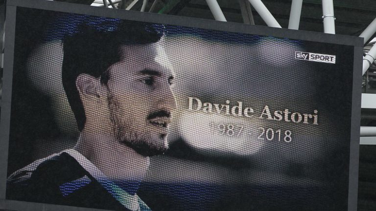 Respects to the late Fiorentina Captain Davide Astori before Serie A match between Juventus v Udinese, in Turin, on march 11, 2018 (Photo by Loris Roselli/NurPhoto).