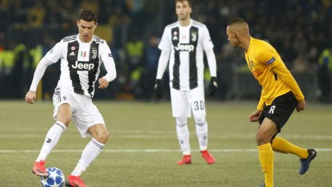 Cristiano Ronaldo during Champions League match between Young Boys v Juventus, in Beern, on December 12, 2018.( Photo by Loris Roselli/NurPhoto)
