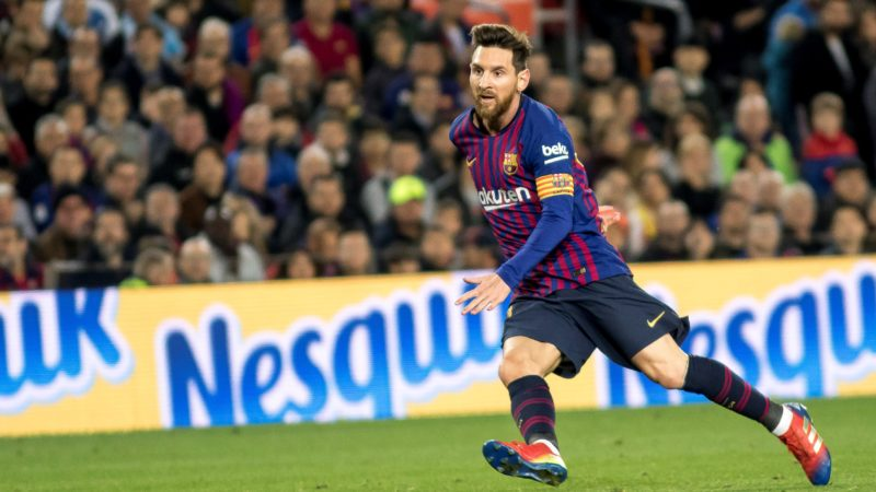 Leo Messi during the spanish league match between FC Barcelona and Celta de Vigo at Camp Nou Stadium in Barcelona, Catalonia, Spain on December 22, 2018 (Photo by Miquel Llop/NurPhoto)