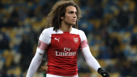 Arsenal''s Matteo Guendouzi  looks at the players during the Europa League match between Vorskla and Arsenal at the Olympic Stadium in Kiev. Ukraine, Thursday,  November 29, 2018 (Photo by Danil Shamkin/NurPhoto)