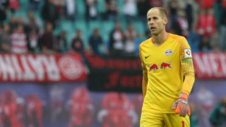 LEIPZIG, GERMANY - SEPTEMBER 02:  Goalkeeper Peter Gulacsi of Leipzig looks on after the Bundesliga match between RB Leipzig and Fortuna Duesseldorf at Red Bull Arena on September 2, 2018 in Leipzig, Germany.  (Photo by Matthias Kern/Bongarts/Getty Images)