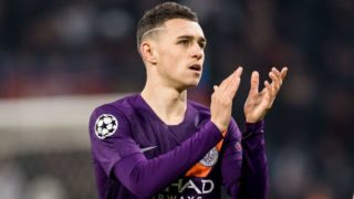Phil Foden of Manchester City during the UEFA Champions League group F match between Olympique Lyonnais and Manchester City at Stade de Lyon on November 27, 2018 in Decines, France(Photo by VI Images via Getty Images)