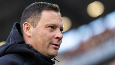 HANOVER, GERMANY - DECEMBER 01: Head coach Pal Dardai of Hertha BSC looks on prior to the Bundesliga match between Hannover 96 and Hertha BSC at HDI-Arena on December 1, 2018 in Hanover, Germany. (Photo by Boris Streubel/Getty Images)