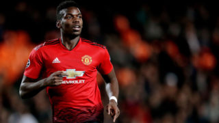 VALENCIA, SPAIN - DECEMBER 12: Paul Pogba of Manchester United  during the UEFA Champions League  match between Valencia v Manchester United at the Estadio de Mestalla on December 12, 2018 in Valencia Spain (Photo by Jeroen Meuwsen/Soccrates/Getty Images)
