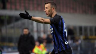 Ivan Perisic #44 of FC Internazionale Milano reacts to a missed chance during the serie A match between FC Internazionale and US Sassuolo at Stadio Giuseppe Meazza on January 19, 2019 in Milan, Italy. (Photo by Giuseppe Cottini/NurPhoto)