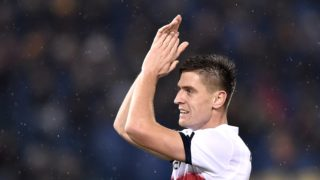 Krzysztof Piatek of Genoa CFC during the Serie A match between Roma and Genoa at Stadio Olimpico, Rome, Italy on 16 December 2018.  (Photo by Giuseppe Maffia/NurPhoto)