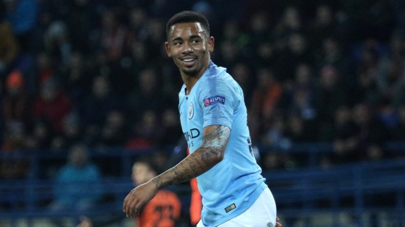 Manchester City's Gabriel Jesus looks at the players during of the Champions League group stage match between Shakhtar Donetsk and Manchester City at Metalist Stadium in Kharkov. Ukraine, Tuesday, October 23, 2018  (Photo by Danil Shamkin/NurPhoto)