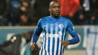 Mbaye Diagne of Kasimpasa AS during the Turkish Spor Toto Super Lig match between Kasimpasa AS and Kayserispor at the Recep Tayyip Erdogan stadium on December 10, 2018 in Istanbul, Turkey(Photo by VI Images via Getty Images)