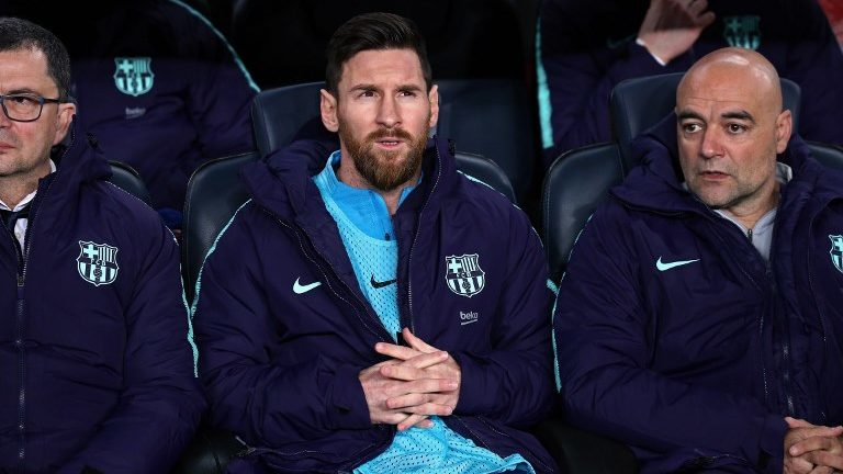 Leo Messi during the match between FC Barcelona and Real Madrid corresponding to the first leg of the 1/2 final of the spanish cup, played at the Camp Nou Stadium, on 06th February 2019, in Barcelona, Spain.   -- (Photo by Urbanandsport/NurPhoto)