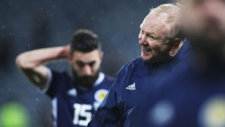 GLASGOW, SCOTLAND - NOVEMBER 20: Scotland manager Alex McLeish reacts  at the end of the UEFA Nations League C group one match between Scotland and Israel at Hampden Park on November 20, 2018 in Glasgow, United Kingdom. (Photo by Ian MacNicol/Getty Images)