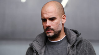 SWANSEA, WALES - MARCH 16: Josep Guardiola, Manager of Manchester City arrives at the stadium prior to the FA Cup Quarter Final match between Swansea City and Manchester City at Liberty Stadium on March 16, 2019 in Swansea, United Kingdom. (Photo by Harry Trump/Getty Images)
