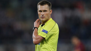 ROME, ITALY - OCTOBER 20:  Referee Vladislav Bezborodov looks on during the UEFA Europa League match between AS Roma and FK Austria Wien at Olimpico Stadium on October 20, 2016 in Rome.  (Photo by Paolo Bruno/Getty Images)
