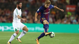 Sergi Samper of FC Barcelona during the 2017 Joan Gamper Trophy football match between FC Barcelona and Chapecoense on August 7, 2017 at Camp Nou stadium in Barcelona, Spain - Photo Manuel Blondeau / AOP Press / DPPI