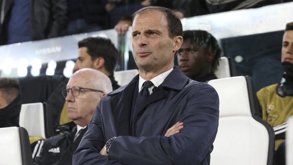 Massimiliano Allegri, head coach of Juventus FC,  before the UEFA Champions League quarter-final second leg match between Juventus FC and AFC Ajax at Allianz Stadium on April 16, 2019 in Turin, Italy. 