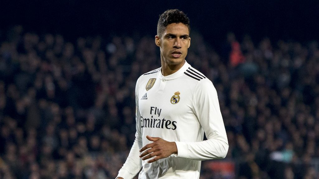 Raphaël Varane during the Copa del Rey (King's Cup) match between FC Barcelona and Real Madrid at Camp Nou Stadium in Barcelona, Catalonia, Spain on February 6, 2019 (Photo by Miquel Llop/NurPhoto)