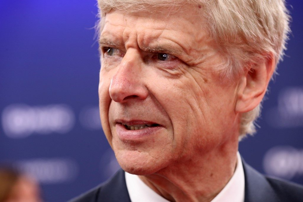 Former Arsenal football team manager Arsene Wenger poses on the red carpet before the 2019 Laureus World Sports Awards ceremony at the Sporting Monte-Carlo complex in Monaco on February 18, 2019. (Photo by Valery HACHE / AFP)