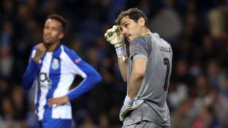 Porto's Spanish goalkeeper Iker Casillas reacts during the UEFA Champions League, match between FC Porto and Liverpool, at Dragao Stadium in Porto on April 14, 2019. (Photo by Paulo Oliveira / DPI / NurPhoto)