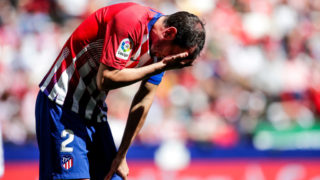 MADRID, SPAIN - APRIL 27: Diego Godin of Atletico Madrid during the La Liga Santander  match between Atletico Madrid v Real Valladolid at the Estadio Wanda Metropolitano on April 27, 2019 in Madrid Spain (Photo by David S. Bustamante/Soccrates/Getty Images)
