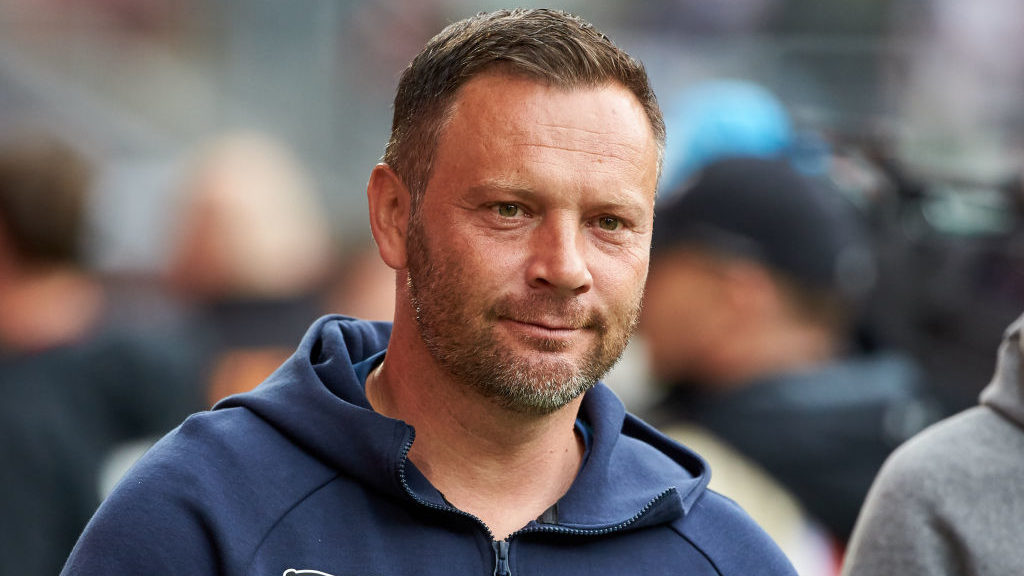 AUGSBURG, GERMANY - MAY 11: Head coach Pal Dardai of Hertha BSC looks on prior to the Bundesliga match between FC Augsburg and Hertha BSC at WWK-Arena on May 11, 2019 in Augsburg, Germany. (Photo by TF-Images/Getty Images)