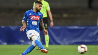 Lorenzo Insigne of SSC Napoli during the Serie A TIM between SSC Napoli and Cagliari at Stadio San Paolo Naples Italy on 5 May 2019.