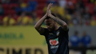 The player Neymar of the Brazilian National Team before the friendly against the Selection of Qatar, valid as preparation for the Copa America 2019, the night of this Wednesday, 05, in the National Stadium Mané Garrincha in Brasília. (PHOTO: RICARDO BOTELHO/BRAZIL PHOTO PRESS)