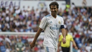 Raul Gonzalez Blanco of Real Madrid Legends during the Corazon Classic match between Real Madrid Legends and Asenal Legends at Estadio Santiago Bernabeu on June 3, 2018 in Madrid, Spain. (Photo by Oscar Gonzalez/NurPhoto)