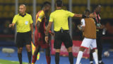 Ghana's defender John Boye leaves the pitch after receiving a red card during the 2019 Africa Cup of Nations (CAN) football match between Ghana and Benin at the Ismailia Stadium on June 25 , 2019. (Photo by OZAN KOSE / AFP)