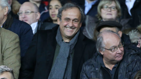PARIS, FRANCE - DECEMBER 22: Michel Platini attends the french Ligue 1 match between Paris Saint-Germain (PSG) and FC Nantes at Parc des Princes stadium on December 22, 2018 in Paris, France. (Photo by Jean Catuffe/Getty Images)