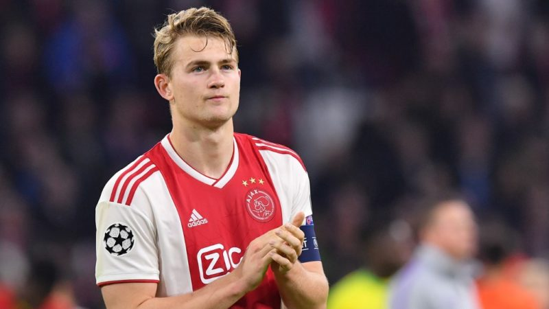 Ajax's Dutch defender Matthijs de Ligt reacts after Ajax Amsterdam lost the UEFA Champions League semi-final second leg football match against Tottenham Hotspur at the Johan Cruyff Arena, in Amsterdam, on May 8, 2019. - Tottenham fought back from three goals down on aggregate to stun Ajax 3-2 and set up a Champions League final against Liverpool. (Photo by EMMANUEL DUNAND / AFP)