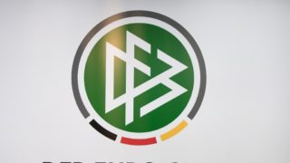 Logo of the new founded DFB Euro GmbH for the European Championship 2024 in Germany, during the press conference for the, Aû EURO-Countdown: 2020, Aì One year to go, Aù Media Lunch on 12.06.2019 in the Boathouse in Mainz / Germany. ¬ | usage worldwide