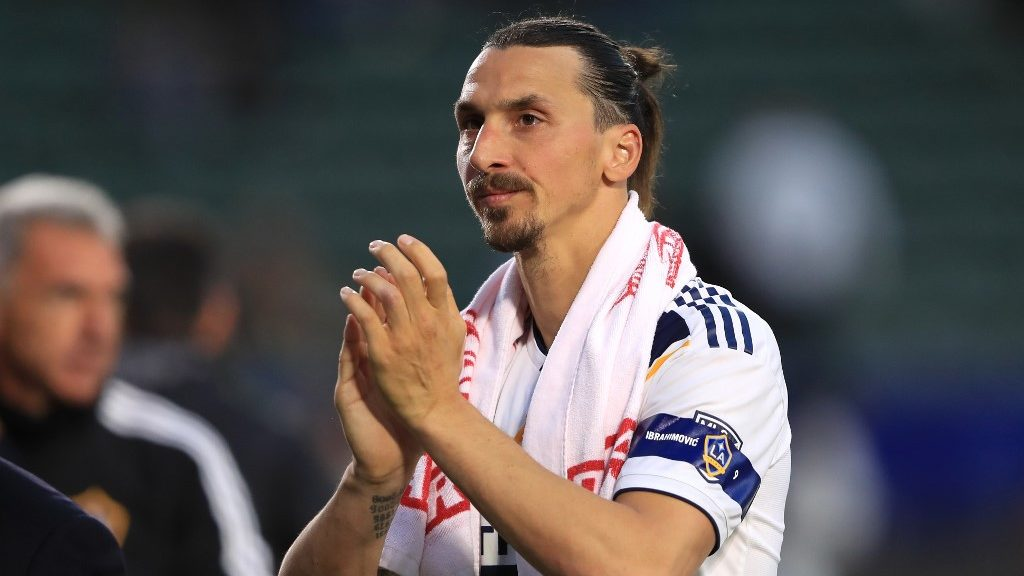 CARSON, CALIFORNIA - APRIL 28: Zlatan Ibrahimovic #9 of Los Angeles Galaxy looks on as he leaves the field after a game against the Real Salt Lake at Dignity Health Sports Park on April 28, 2019 in Carson, California. Los Angeles Galaxy defeated Real Salt Lake 2-1.   Sean M. Haffey/Getty Images/AFP